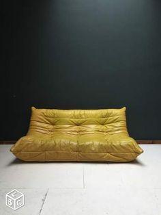 Canape Togo cuir ligne roset vintage