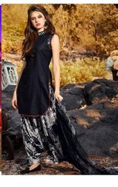 Scintillating Black Patiala Suit Set