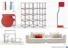 Clean lines and blocks of color define this Color and Design trend.