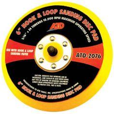 "ATD-2076 6"" hook & loop sanding disc pad  $15.95   Dads Discount Tools    585-905-8904"