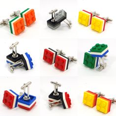 An awesome selection of Lego plate cufflinks for grooms and weddings. Awesome Lego, Cool Lego, Wedding Men, Grooms, Cyber, Mall, Jewelery, Cufflinks, Iphone Cases
