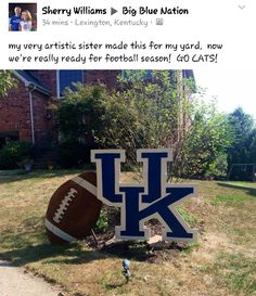 Anyone Can Play Football With These Tips. To be great at football you have to continually learn new things. While it's a fun game to play, a lot of work goes into playing it correctly. University Of Kentucky Football, Kentucky Sports, Uk Football, Kentucky Wildcats, Football Season, Uk Basketball, Go Big Blue, My Old Kentucky Home, Fun Things