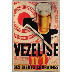 USA Beer Vezelise tone Metal Frame 24 x 36-inch Print