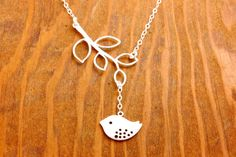 Silver Bird Necklace  mother necklace mom necklace by MegusAttic, $30.00