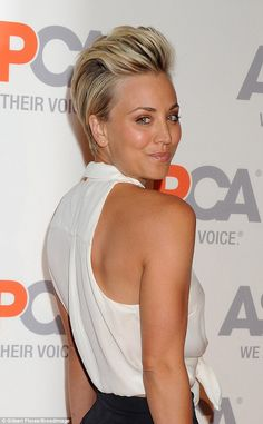Hair hopper:The Big Bang Theory starlet - who turns 29 next month - likely enlisted haird...