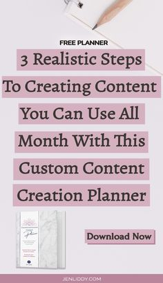 If you've been feeling the panic of not knowing what to say and can't break past that blank screen, here are 3 simple steps that you can take today! It's time to unlock the content that will draw your ideal clients straight to you – without feeling scripted. Get started and download my free customized content creation planner and create your voice today with no overwhelm and no confusion. #solopreneur #businessgoals #womeninbusiness