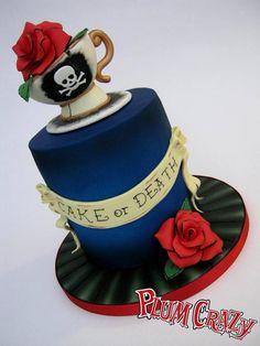 Cake or Death? Tattoo Inspired Cake - by SugarplumB @ CakesDecor.com - cake decorating website