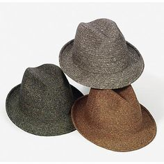 08fd9526445 Men s Borsalino Tweed Driving-Style Walking Hat - The Borsalino Rex at  MensHats.com