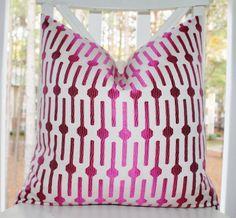 Decorative+Pink+Pillow++Modern+Geometric+Pink+by+MotifPillows,+$40.00