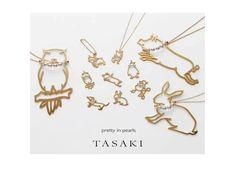 TASAKI : Gold Animal Necklaces