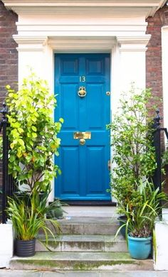 Home Designs And Decor , Front Door Designs For House : Peacock Blue Front Door Designs For House