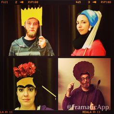"""""""Sneak peak of ArtBarRaleigh's photo booth - Come try it out! #artattack #artisfun #raleigharts #photobooth #arthistory"""""""