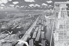 The Legacy of Hydraulic Fracturing in Blackpool,The Legacy of Frackpool: Sustainable Energy Production and New Industry. Architecture Visualization, Architecture Drawings, Architecture Models, Bartlett School Of Architecture, Sustainable City, Blackpool, Paris Skyline, 3d Printing, City Photo