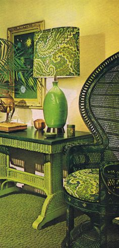 fabulous green-on-green room 1973