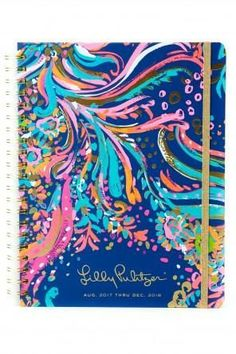 2017-2018 17 Month Lilly Pulitzer Large Agenda in Beach Loot