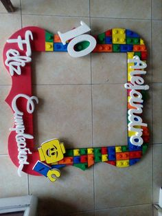 Marco de Selfies Lego Lego Movie Birthday, Ninja Birthday Parties, 5th Birthday Party Ideas, 7th Birthday, Lego Party Decorations, Party Themes, Festa Ninja Go, Deco Lego, Lego Themed Party