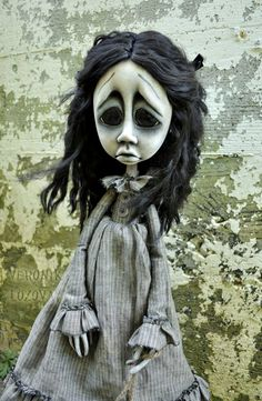 Gothic  Art Doll Giclee Fine Art Print.. $30.00, via Etsy.