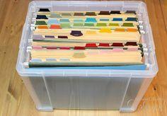 Rangement papiers scrapbooking (chutes et papiers unis par exemple)