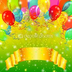 Fondo de fiesta con globos — Imagen de stock #11690176