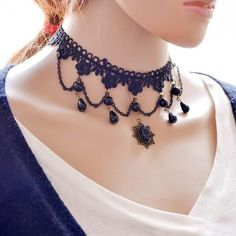 Fashion Girl Handmade Gothic Retro Vintage Lace Collar Choker Necklace #nacklace #fashion #jewelery #women #vintage https://seethis.co/bQRdYQ/