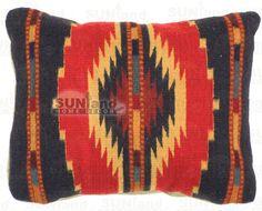 Premium Zapotec Throw Pillow 14in x 17in - RST (Red Starburst)