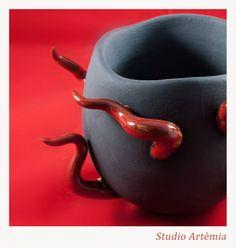 Tentacoli #tentacoli #rosso #nero #ceramica
