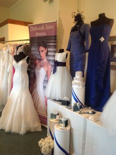 Royal Blue and crystal with a touch of lace at the Garstang Country Club Wedding Fayre.