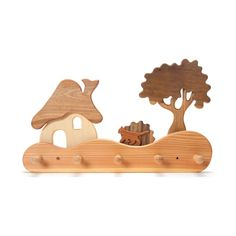 house in the forest coatrack - Home Decor - Living - Nova Natural Toys + Crafts