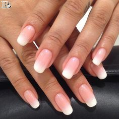 20 gel nail and french mani with ombre shellac nails gel nai Cnd Shellac, Ombre Shellac, Shellac Manicure, Pink Ombre Nails, French Nails, French Manicures, Gel French, French Makeup, Gel Nail Art