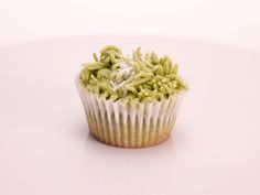 Green Tea Cupcakes Topped with Green Tea Buttercream Frosting from FoodNetwork.com