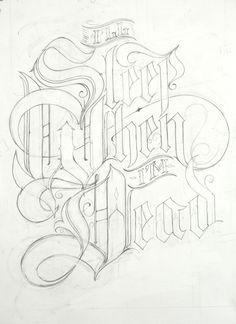 I'll Sleep When I'm Dead – Graffiti World Lettrage Chicano, Chicano Art Tattoos, Chicano Lettering, Graffiti Lettering Fonts, Creative Lettering, Lettering Design, Hand Lettering, Lettering Tutorial, Typography