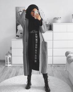 ◼️▪️ Difficult roads often lead to a beautiful destination ▪️◾️ {Werbung Modest Fashion Hijab, Modern Hijab Fashion, Casual Hijab Outfit, Hijab Fashion Inspiration, Hijab Chic, Muslim Fashion, Mode Inspiration, Fashion Outfits, Ootd Hijab