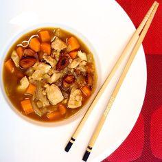 Pollo con almendras estiló chino healthy