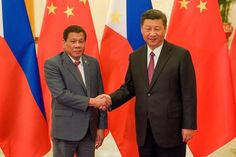 Philippine President Rodrigo Duterte said on Friday Chinese counterpart China Xi Jinping had warned him there would be war if Manila tried to enforce an arbitration ruling and drill for oil in a disputed part of the South China Sea. Rodrigo Duterte, Manila, President Of The Philippines, Soft Power, War On Drugs, Virtual Assistant Services, American Freedom, World View, Political Science