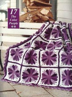 Crochet Square Pattern, Crochet Square Blanket, Modern Crochet Patterns, Crochet Quilt, Crochet Blocks, Afghan Crochet Patterns, Crochet Squares, Crochet Granny, Crochet Motif