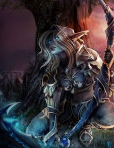 The Solar Eclipse - Sylvanas by Wiktoria Kubien Character & Concept Artist Fantasy Rpg, Fantasy Girl, World Of Warcraft Wallpaper, Banshee Queen, Sylvanas Windrunner, Wow World, Warcraft 3, Heroes Of The Storm, Portrait Photography Poses