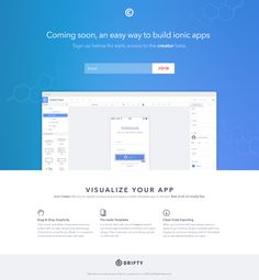 clean simple UI builder. Also: great startup app concept.