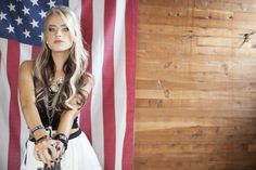 """Amazing country newcomer Brooke Eden. Check out her first single """"American Dreamin'"""" available on iTunes!! ❤️"""