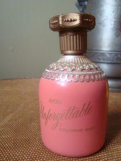 Avon Unforgettable Cologne Bottle | Vintage Avon Cologne Mist Bottle Unforgettable by Vintage31Summers