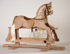 The Dapple Grey Wooden Rocking Horse, Wooden Rocking Toy, Wooden Horse Toy, Ride On Toy, Toddler rocking horse