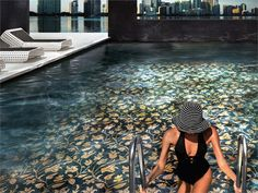 Gorgeous pool tile Mosaici by Sicis
