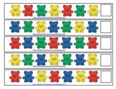 Ours tri de couleur, reconnaitre l'ordre des couleurs 2