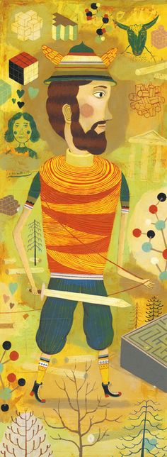 Theseus by Bjørn Rune Lie Love Illustration, Folklore, Runes, Illustrations Posters, Illustrators, Scene, Amazons, Artwork, Birth