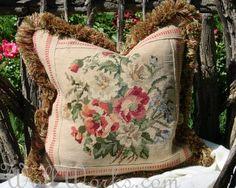Pretty  Bouquet Vintage Needlepoint