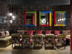 Pierre Frey is proud to have been part of the Crimson Bar refurbishement project, at the Soho Hotel in London !