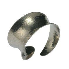Amazon.com: John S Brana Hammered Aluminum Anticlastic Bangle: Jewelry