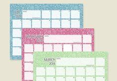 Calendario colorido para anotaciones del 2014.                                                                                                                                                                                 Más