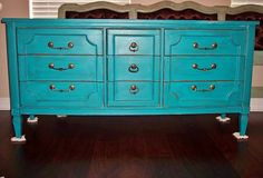 Turquoise Buffet Make Over
