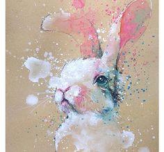 動物たちの躍動感を飛び散る絵の具や滲みで表現したウォーターカラーアートが美しい!