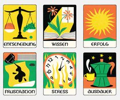 Zeit Campus - Academic Oracle Graphic Design Illustration, Illustration Art, Illustrations, Stress, Behance, Oracle Cards, Tarot Cards, Shades Of Green, Art Direction